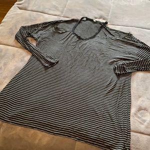 Aerie 3/4 Sleeve Open shoulder Top